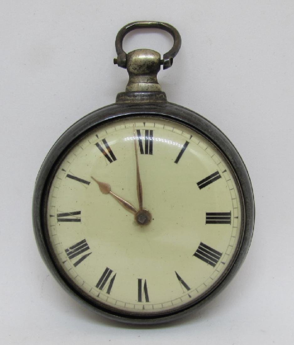 ANTIQUE STERLING SILVER POCKET WATCH MARKED