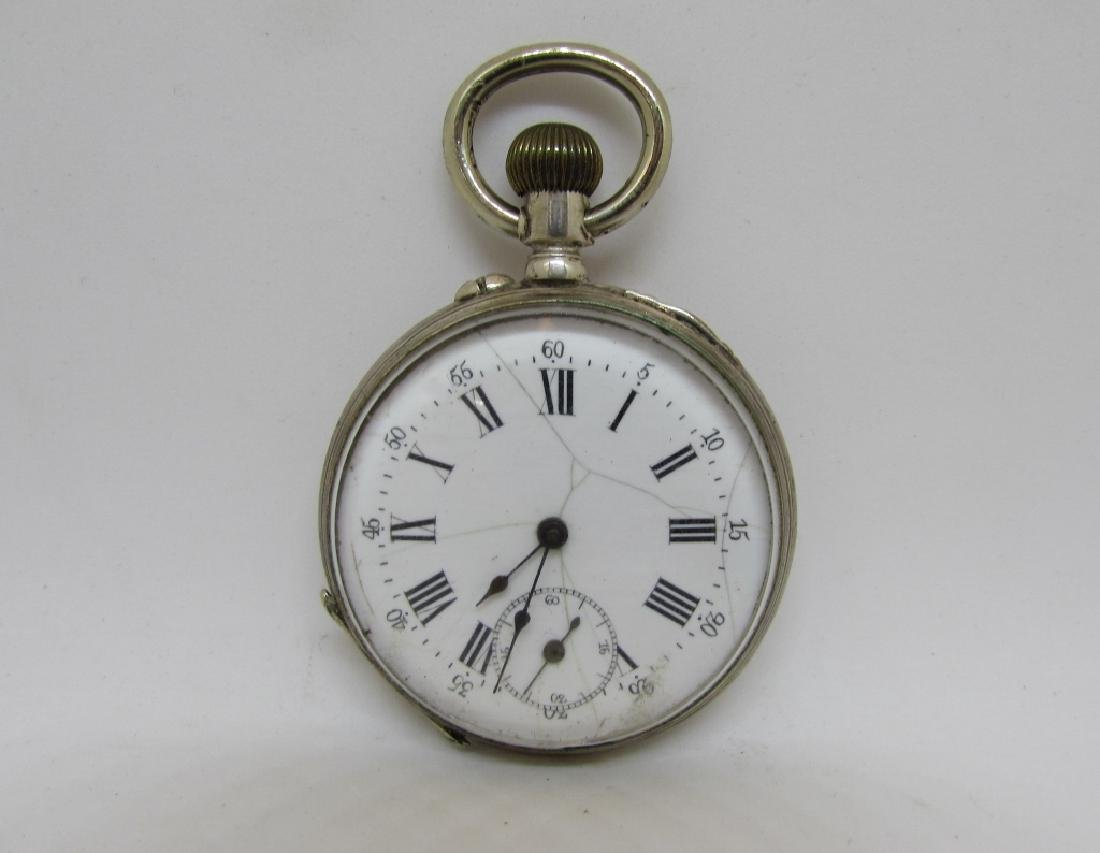 ANTIQUE STERLING SILVER POCKET WATCH GENEVE