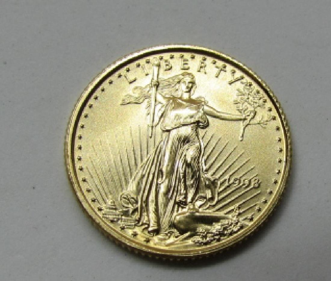 1998 US 5 DOLLAR GOLD EAGLE COIN