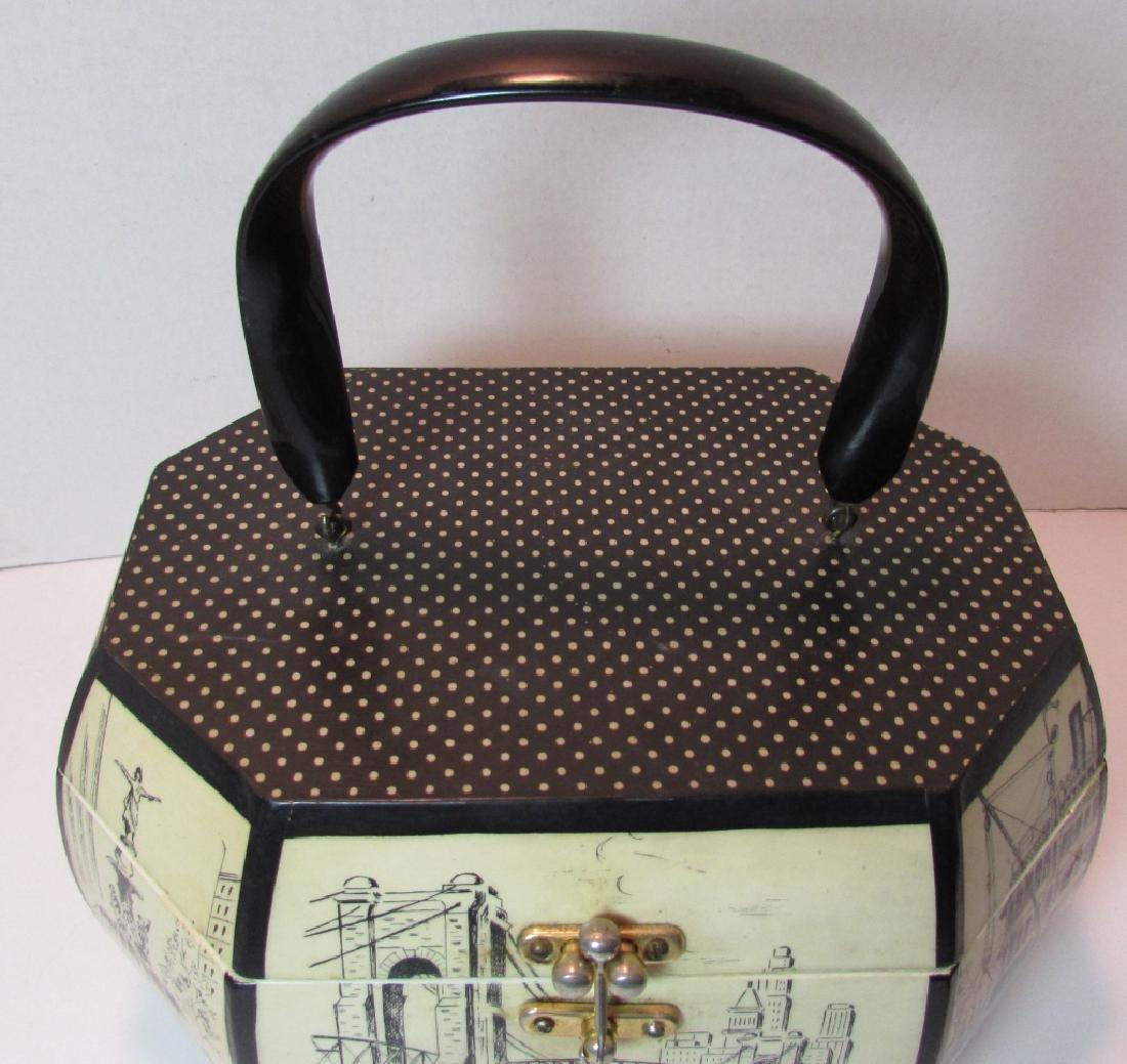 CRESS CINCINNATI OH WOODEN BOX PURSE SAKS 5TH AVE - 3