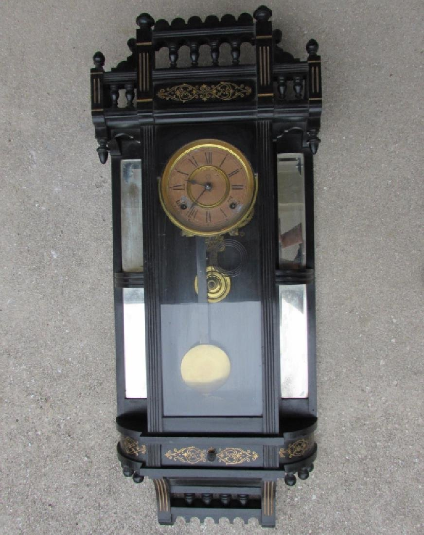 ANSONIA WALL REGULATOR CLOCK GOLD GILT TIME STRIKE