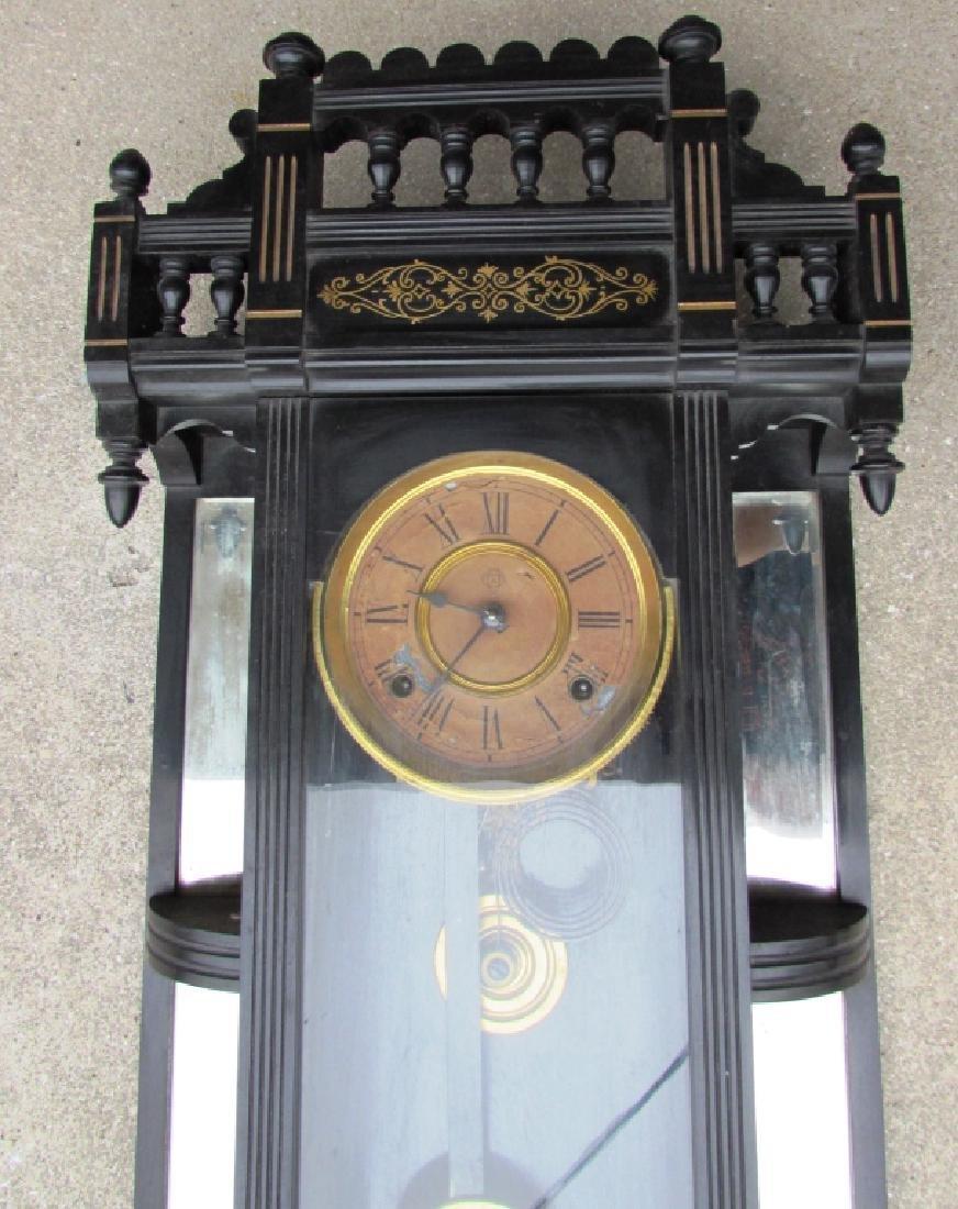 ANSONIA WALL REGULATOR CLOCK GOLD GILT TIME STRIKE - 2