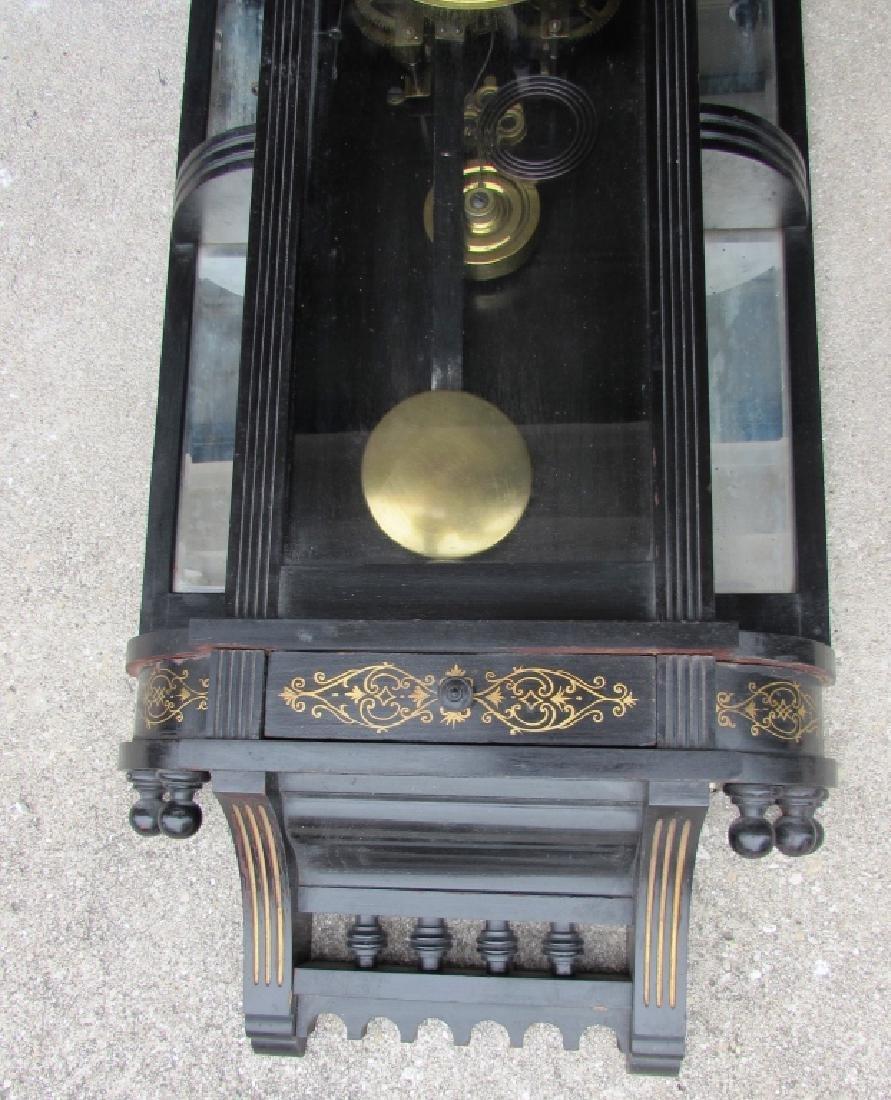 ANSONIA WALL REGULATOR CLOCK GOLD GILT TIME STRIKE - 3