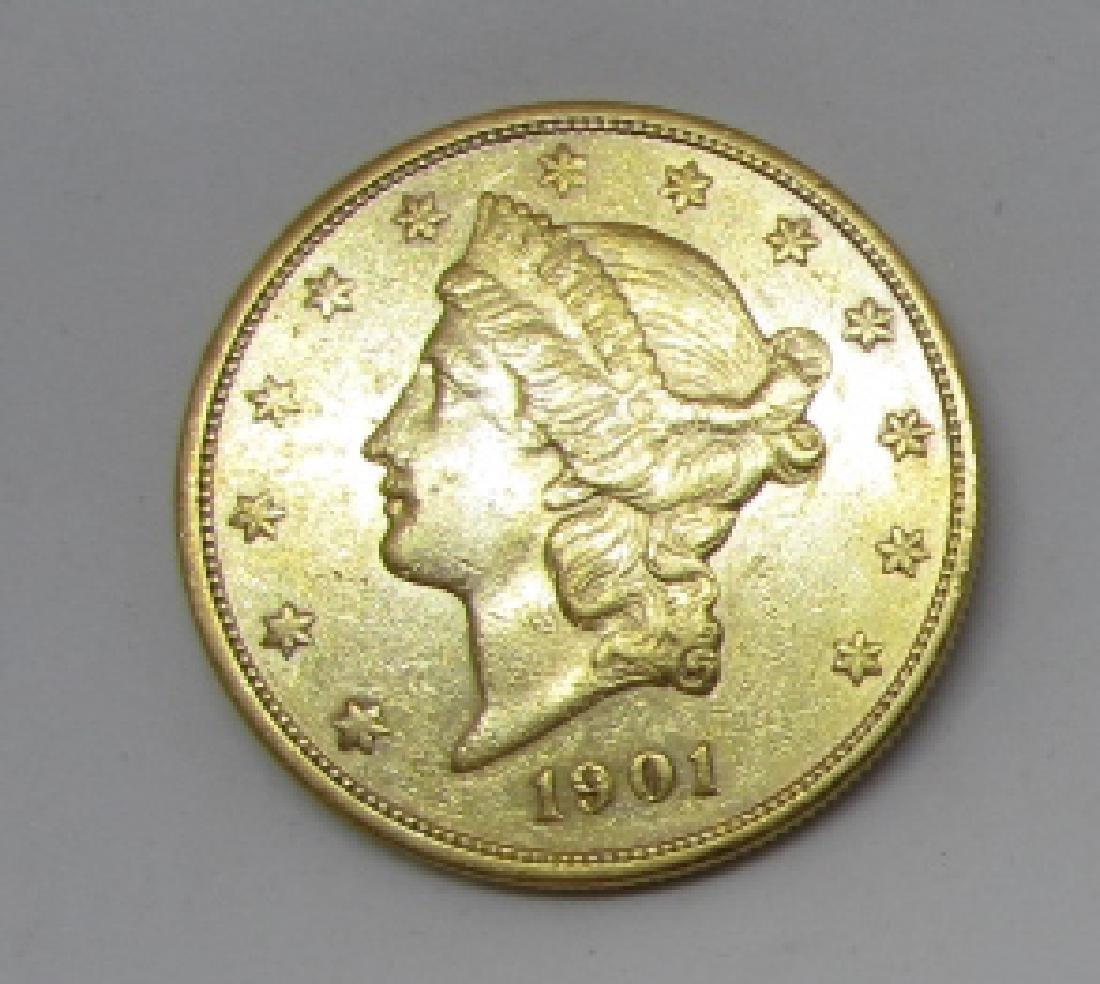 1901 S LIBERTY 20 DOLLAR US GOLD COIN