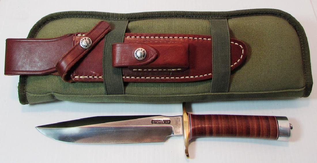 RANDALL MOD 1-7 INCH KNIFE BOWIE FIGHTING LEATHER