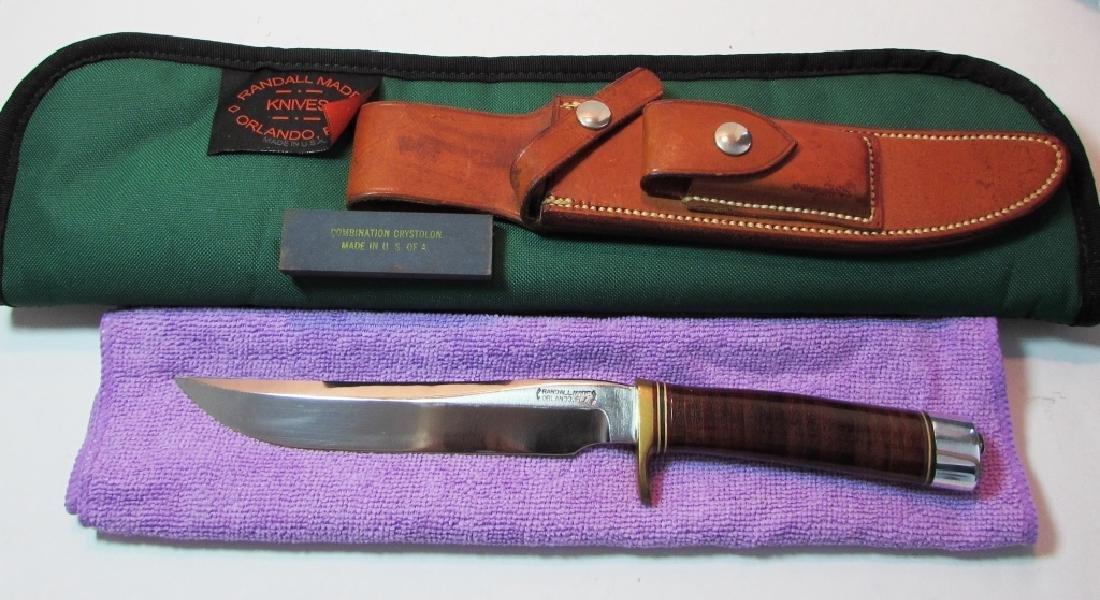 RANDALL MOD 3 HUNTER KNIFE UNUSED w SHEATH CASE