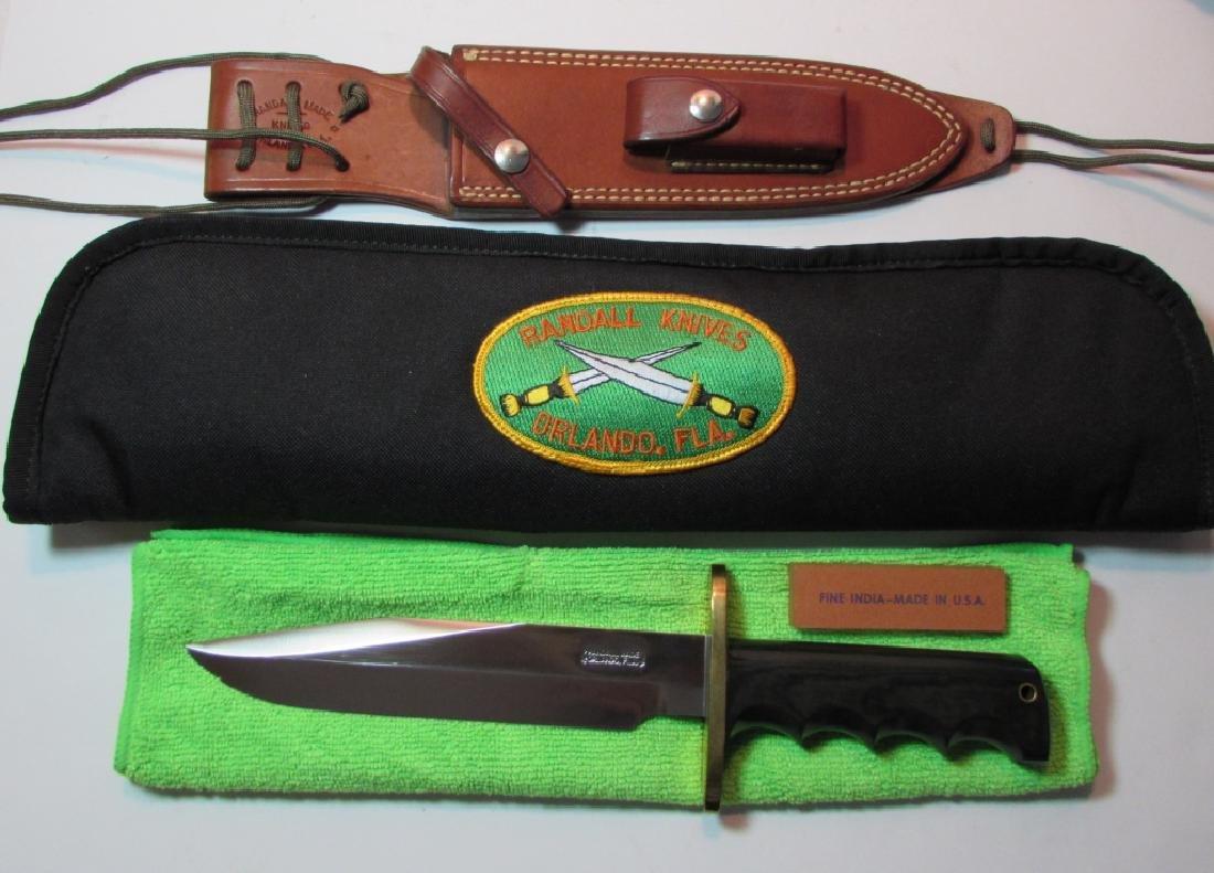 RANDALL MOD 14 ATTACK KNIFE MICARTA LEATHER SHEATH