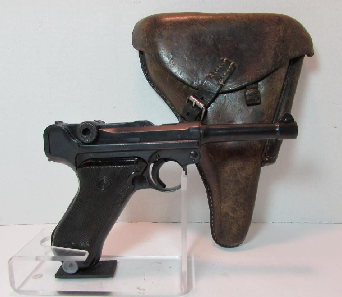 GERMAN WWII '36 NAZI PROOF P08 LUGER & HOLSTER 9mm