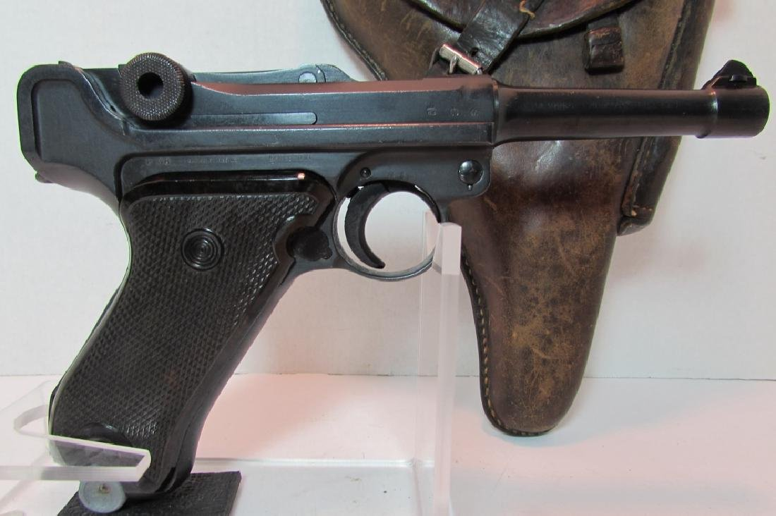 GERMAN WWII '36 NAZI PROOF P08 LUGER & HOLSTER 9mm - 2