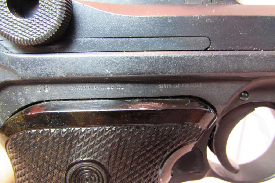 GERMAN WWII '36 NAZI PROOF P08 LUGER & HOLSTER 9mm - 4