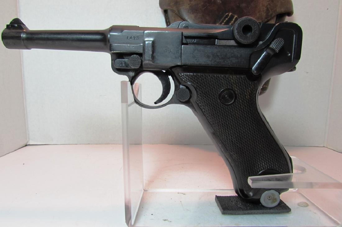 GERMAN WWII '36 NAZI PROOF P08 LUGER & HOLSTER 9mm - 5
