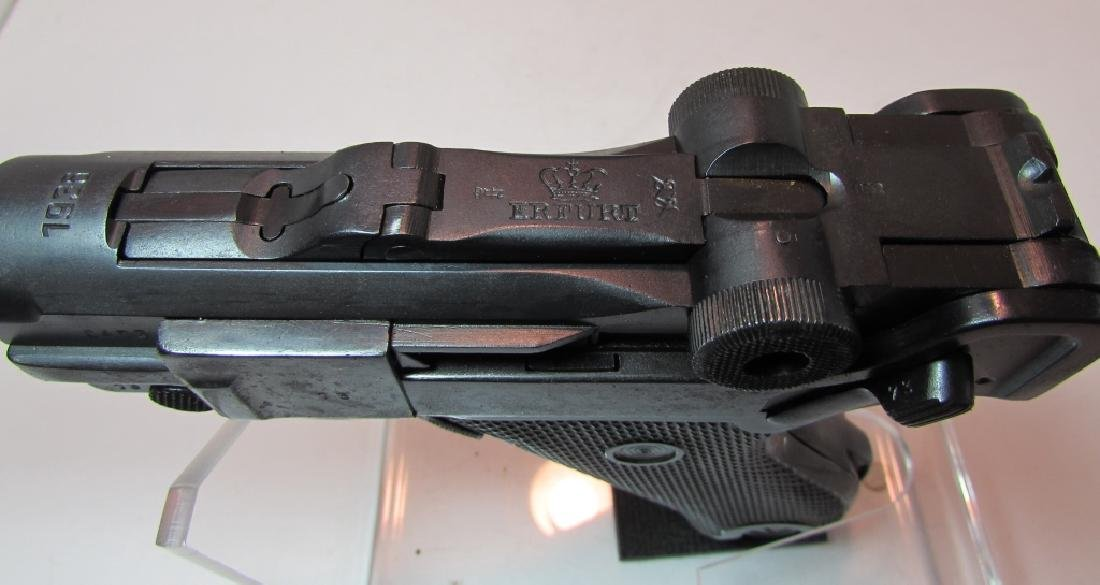 GERMAN WWII '36 NAZI PROOF P08 LUGER & HOLSTER 9mm - 6