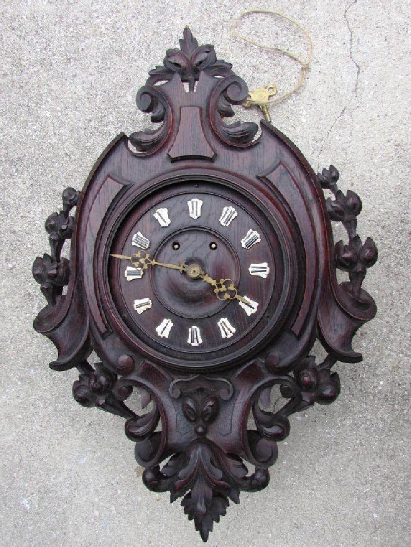 BLACK FOREST CLOCK TIME & STRIKE w KEY