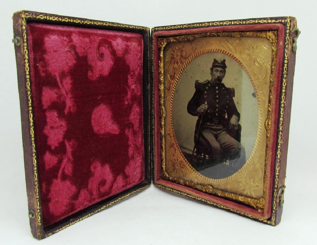 DAGUERREOTYPE PICTURE PHOTOGRAPH CIVIL WAR SOLDIER