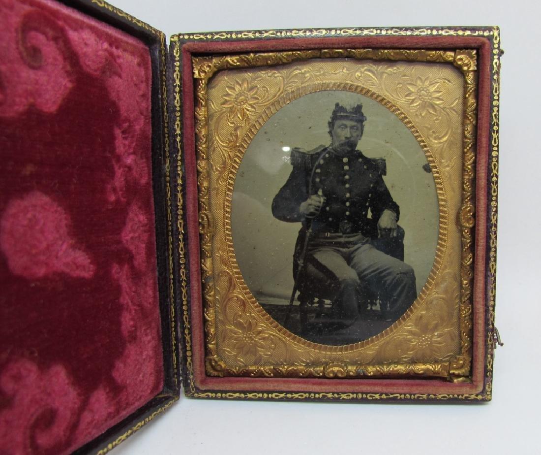 DAGUERREOTYPE PICTURE PHOTOGRAPH CIVIL WAR SOLDIER - 2