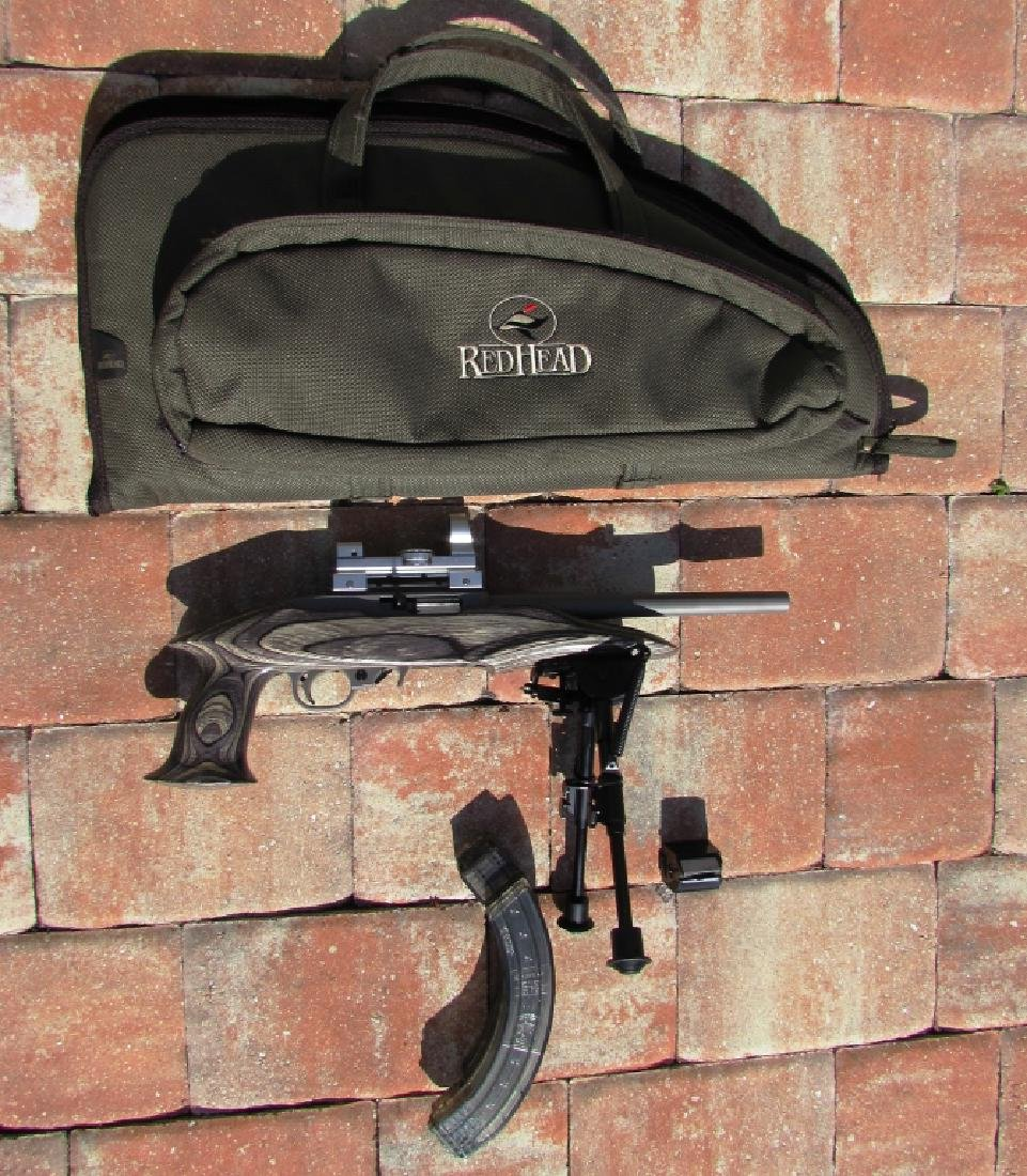 RUGER CHARGER .22 CAL SNIPER TYPE PISTOL MAGS CASE