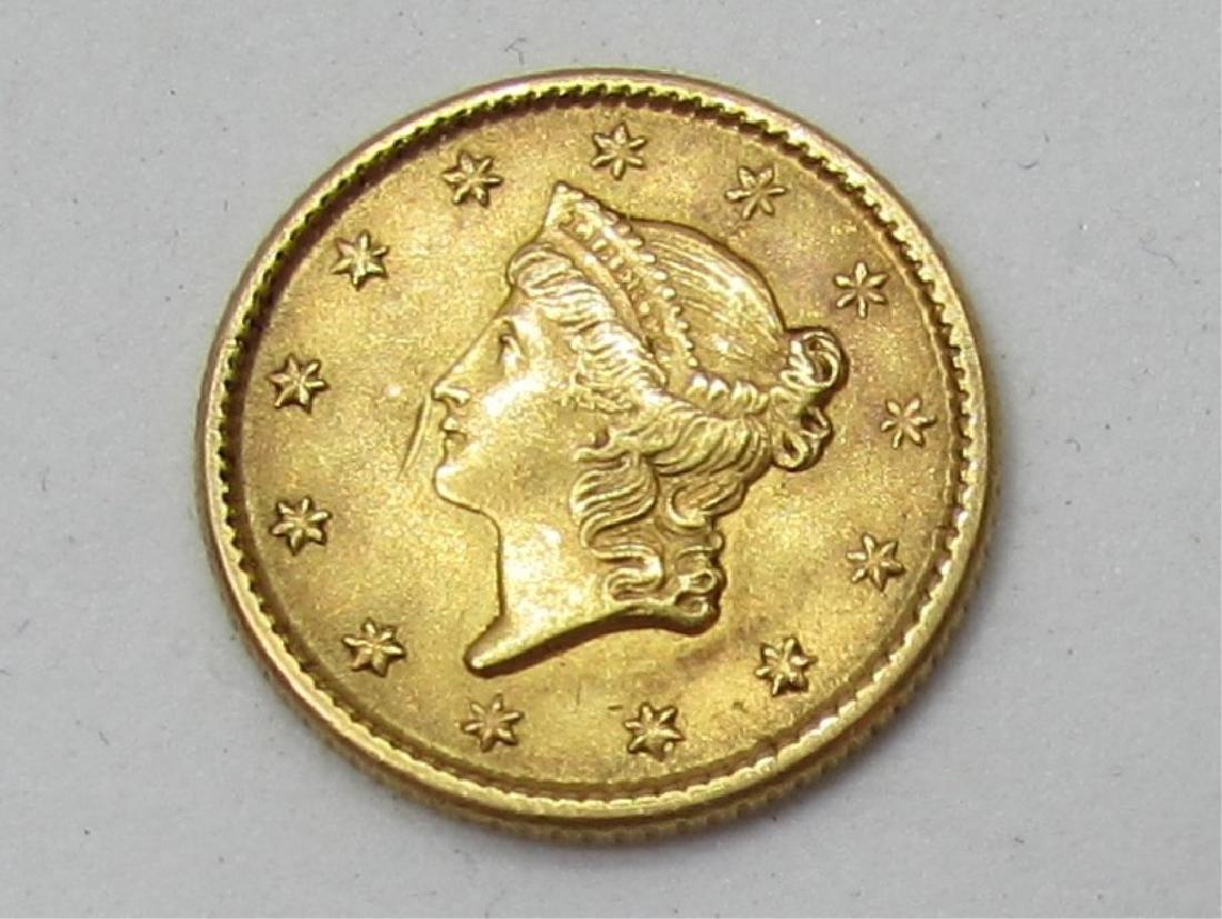 1853 US 1 DOLLAR GOLD COIN