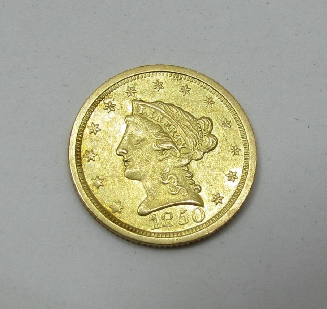 1850 O MINT US 2 1/2 DOLLAR GOLD COIN