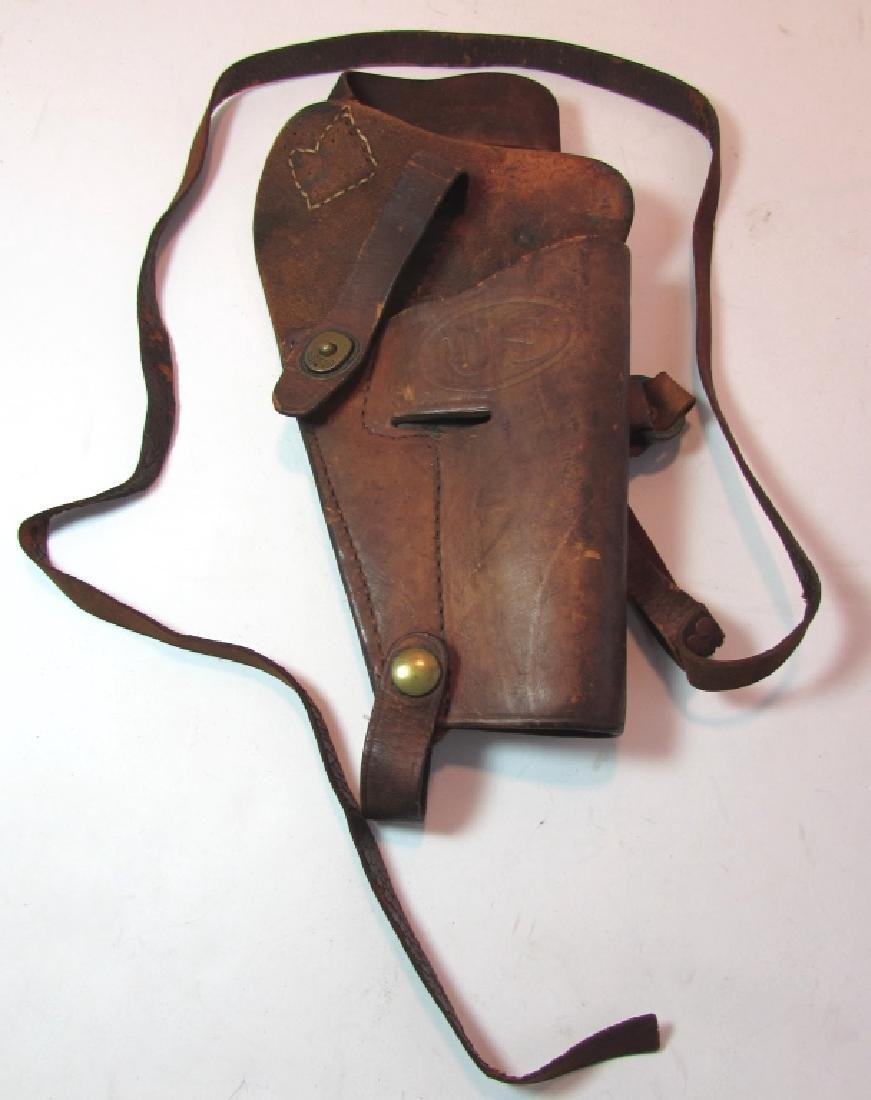 US WWI 1911 LEATHER SHOULDER HOLSTER GOVERNMENT