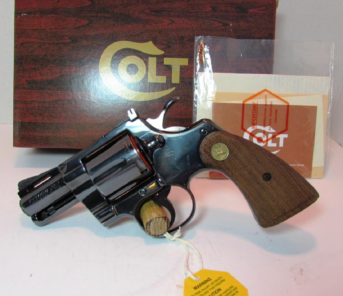 "COLT PYTHON 2.5"" BLUED 357 MAG HANDGUN BOX PAPERS"