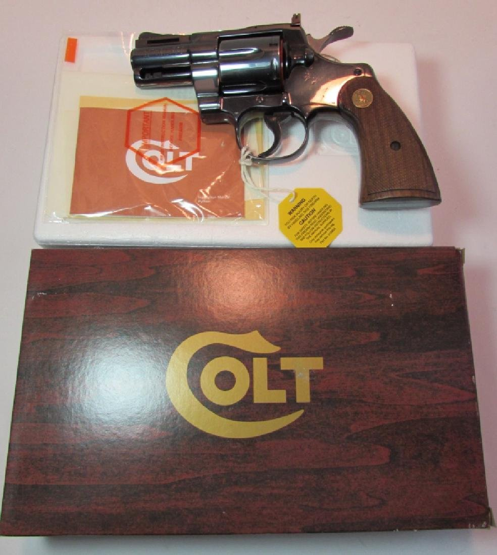 "COLT PYTHON 2.5"" BLUED 357 MAG HANDGUN BOX PAPERS - 4"