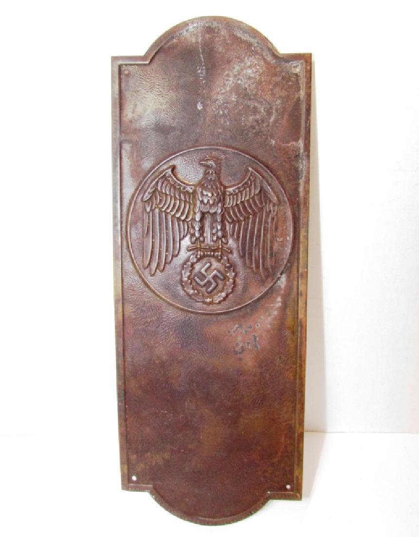 WWII NAZI ARNO BREKER COPPER EAGLE PLATE_DOOR PUSH