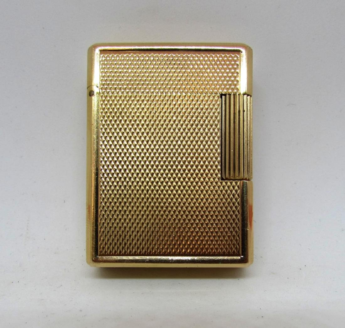 DUPONT VINTAGE GOLD FILLED BUTANE LIGHTER PARIS