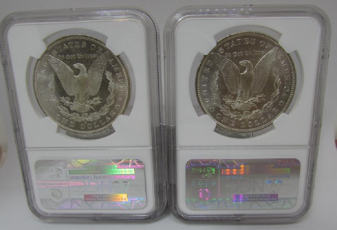 2 US MORGAN SILVER DOLLARS BOTH 1883-O  MS63 - 2