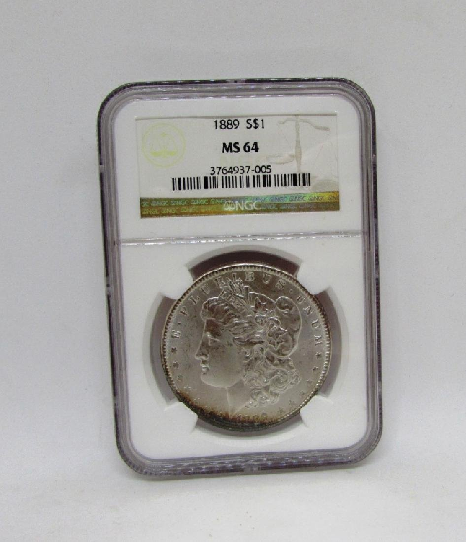 1889 $1 MS64 NGC MORGAN SILVER DOLLAR COIN