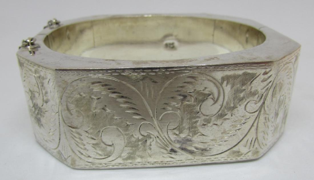 ETCHED BANGLE BRACELET STERLING SILVER 50 GRAMS - 2