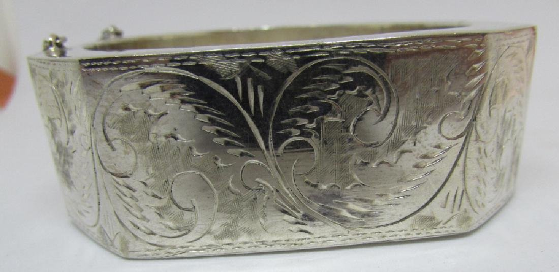 ETCHED BANGLE BRACELET STERLING SILVER 50 GRAMS - 3