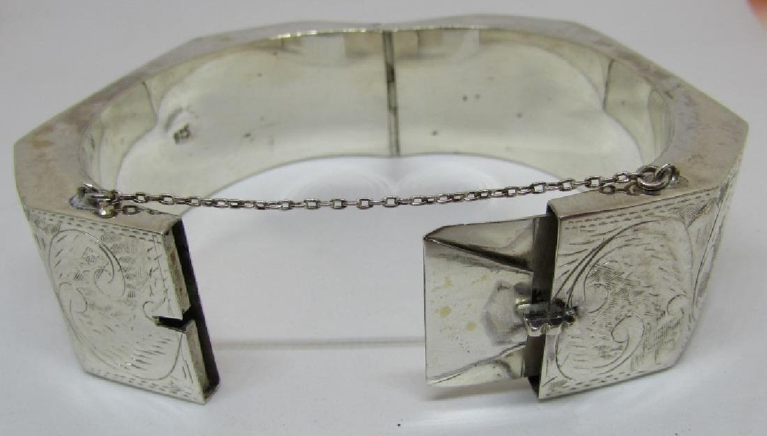 ETCHED BANGLE BRACELET STERLING SILVER 50 GRAMS - 4