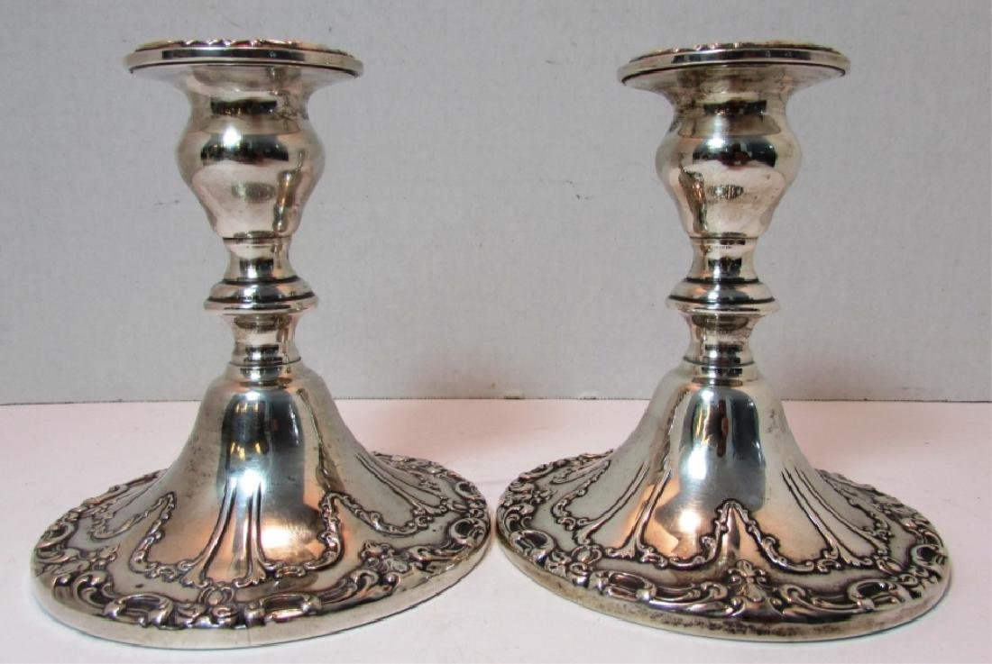 GORHAM STERLING SILVER CANDLE STICK HOLDERS 749