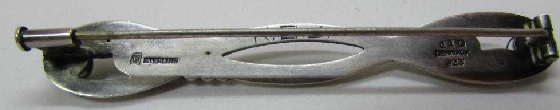GEORG JENSEN PIN #110 STERLING SILVER DENMARK - 4