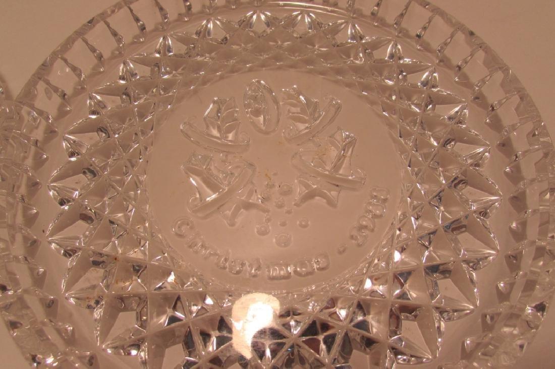 3 WATERFORD IRISH CRYSTAL CHRISTMAS PLATES RARE - 4