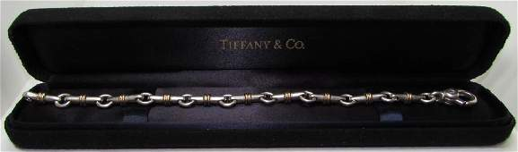 TIFFANY & CO BRACELET 18K GOLD & STERLING SILVER