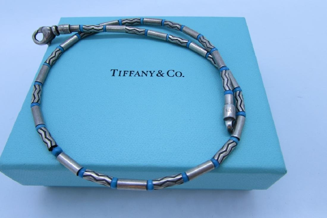 TIFFANY & CO TURQUOISE NECKLACE STERLING SILVER