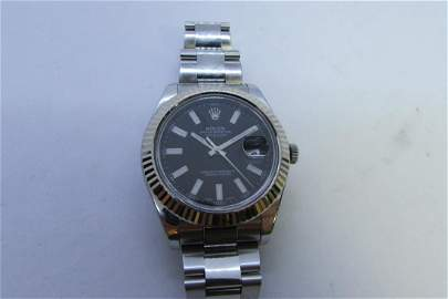 MANS ROLEX DATEJUST STAINLESS  41MM NEW MODEL