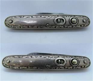 SCHRADE STERLING SILVER SWITCHBLADE POCKET KNIFE