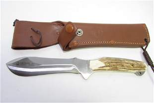 PUMA NEW HUNTER KNIFE & SHEATH STAG HORN SOLINGEN
