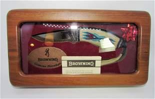 BROWNING KNIFE HORSEHAIR FIXED BLADE NIB MODEL 384