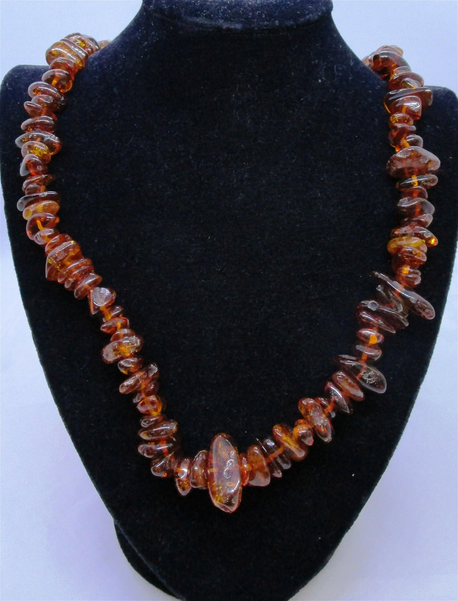 """NUGGET AMBER NECKLACE 36"""" LONG WEIGHS 109.6 GRAMS"""