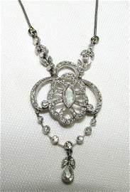 2CT DIAMOND PLATINUM NECKLACE ANTIQUE