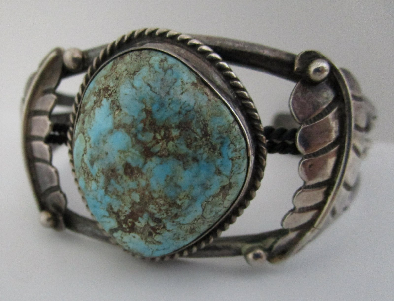 FAB TURQUOISE CUFF BRACELET STERLING SILVER
