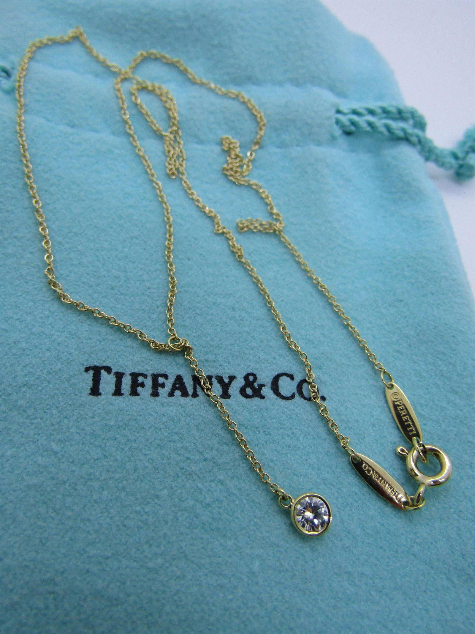 TIFFANY & CO DIAMOND NECKLACE 18K GOLD 750 PERETTI