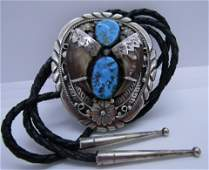 CHEE BOLO TIE NECKLACE BEAR CLAW STERLING SILVER