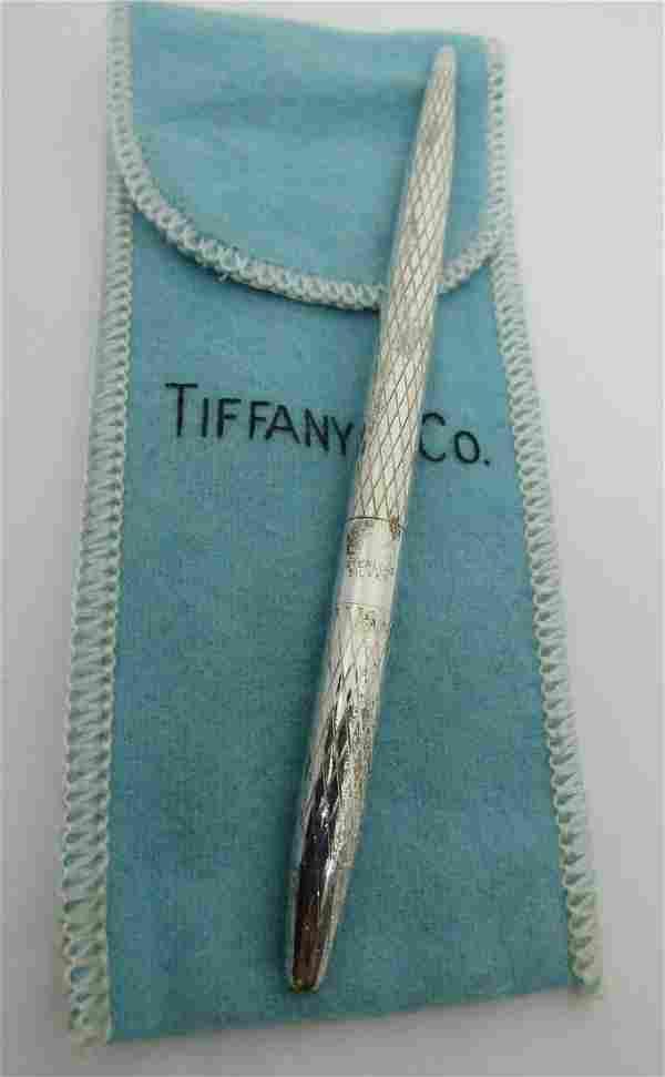 TIFFANY & CO PEN STERLING SILVER W POUCH