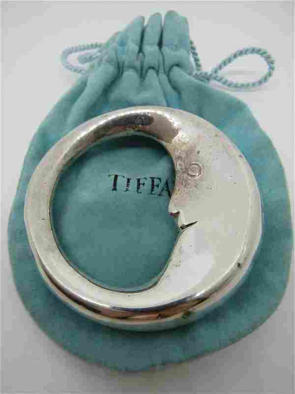 TIFFANY & CO BABY RATTLE STERLING SILVER MAN MOON