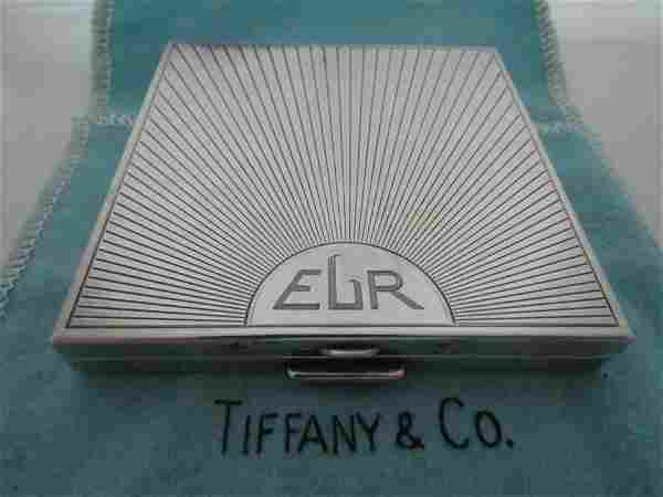 TIFFANY & CO COMPACT STERLING SILVER PURSE POUCH