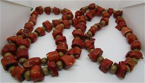 54 NATURAL BRANCH CORAL BEAD NECKLACE